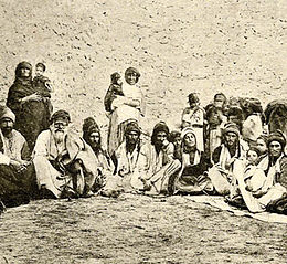 Yazidis on a mountaintop in the 1920s